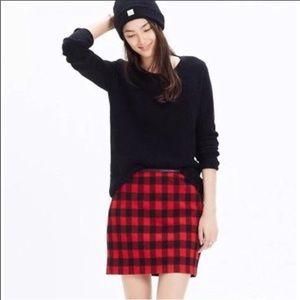 Madewell Red & Black Buffalo Plaid Mini Skirt